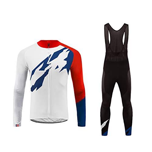 Uglyforg 2019 Frühling/Herbst Männer Radfahren Kleidung Set Fahrrad Anzug Outdoor Langarmtrikot+ Hose Atmungsaktiv Schnell Trocken