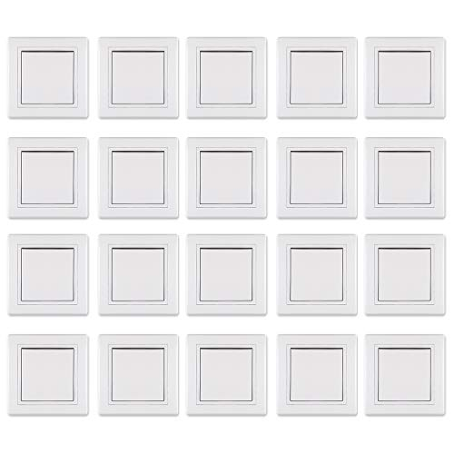 ALING-CONEL Ein/Aus Schalter 10AX/250V~ inkl.Rahmen (komplett) Weiß (RAL 9003) 20set