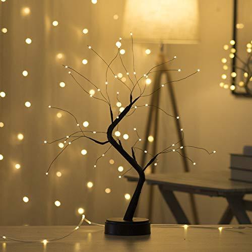 Tafelblad Bonsai Boom Licht met LED Koperdraad Lichtslingers, DIY Kunstmatige Boom Lamp, Batterij/USB Aangedreven, Decoratieverlichting voor Slaapkamer Desktop Kerstfeest Binnen