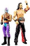WWE Coffret 2 figurines articulées Shinsuke Nakamura & Rey Mysterio en tenue de combat, jouet pour enfant, GLB21