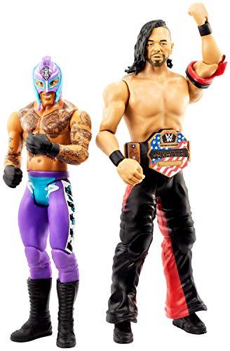 WWE GLB21 - Action Figuren 2er-Pack (15 cm) Shinsuke Nakamura & Rey Mysterio, Spielzeug ab 6 Jahren