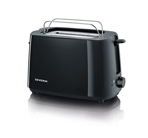 SEVERIN Automatik-Toaster, Inkl. Brötchen-Röstaufsatz, 2 Röstkammern, 700 W, AT 2287, Schwarz