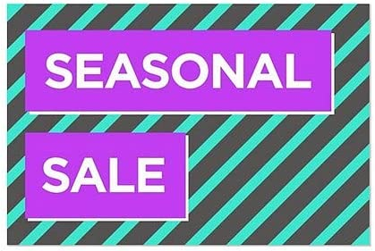 Seasonal Sale 36x24 Modern Block Window Cling CGSignLab