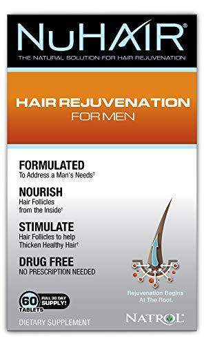 Price comparison product image NuHair Hair Rejuvenation for Men,  Tablets,  60 Count