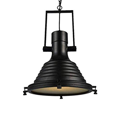 lámpara de techo Vintage individual industrial Cabeza del hierro labrado/Creativa restaurante iluminación de techo de la lámpara (34cm * 23cm) (Color: A-luz caliente) luz de techo empotrada