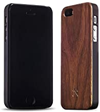Woodcessories - Case Compatible with iPhone 5/ 5s/ SE of Real Wood, EcoCase Classic (Walnut/Green)