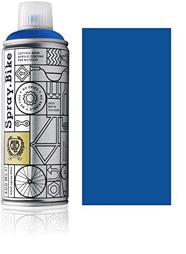 Fahrrad Lackspray in versch. Farben - Keine GRUNDIERUNG notwendig - Acryllack/Lack Spray in 400 ml Spraydose, Matt- und Klarlack Optik möglich (Königsblau Bayswater, Matt)