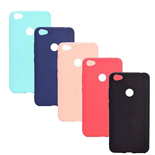 WindTeco 5X Ultra Dünn Weich TPU Silikon Gel Tasche Schutzhülle Handyhülle Schale Hülle für Xiaomi Redmi Note 5A / Redmi Note 5A Prime (Grün, Blau, Rosa, Rot, Schwarz)
