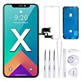 VANYUST for iPhone X Screen Replacement, Upgrade Display OLED Touch Screen Digitizer Assembly with Waterproof Frame Adhesive Sticker,Complete Repair Tools and Screen Protector for iPhone X 5.8 inch