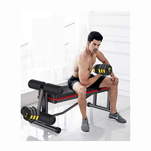 YBZS - Manubrio da uomo in neoprene, coppia da 7,5 kg, regolazione rimovibile, design ottagonale in plastica, sicuro da non rotolare, antiscivolo