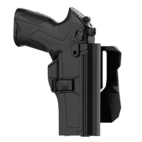 Beretta PX4 Storm Holster, Beretta PX-4 Storm Full Size Paddle Holster, Tactical Outside Waistband Holster with 360° Adjustable Cant Fits Beretta PX 4 Storm 9mm .40 S&W, OWB Carry, Right-Handed