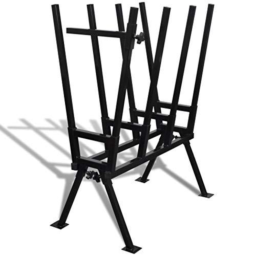 HUANGDANSP Soporte Plegable Negro galvanizado con Sierras para carpintería Bricolaje Herramientas Caballetes de aserrar