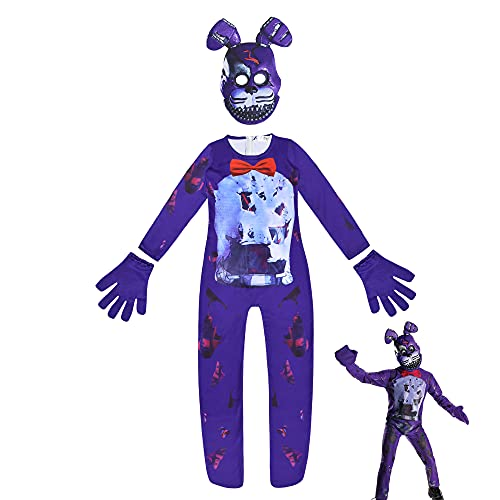 Yu Liao Juego de Aventuras para niños Halloween Foxy The Pirate Disfraz de Cosplay Mono de Estilo de impresión 3D Trajes Zentai para Cosplay Disfraz de Halloween de Navidad