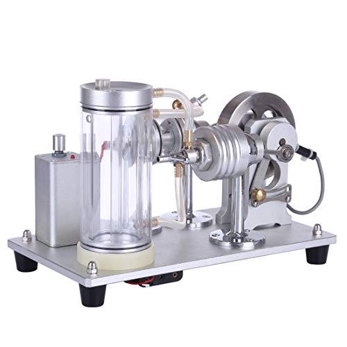 TETAKE Verbrennungsmotor, Selbstzirkulation Wassergekühlt Motor Modell Bausatz, Pädagogisches Spielzeug Geschenk für Technikinteressierte Bastler