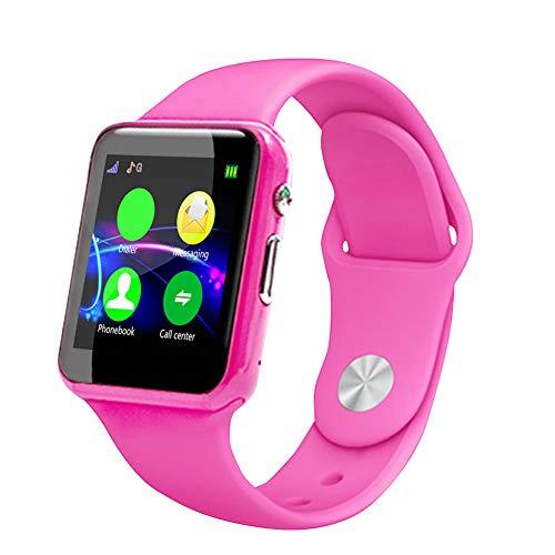 Eboxer Smartwatch voor kinderen, kinderen Smart polshorloge Activity Tracking Watch stappenteller camera klok MP3 klok (zwart, blauw, roze) (roze)