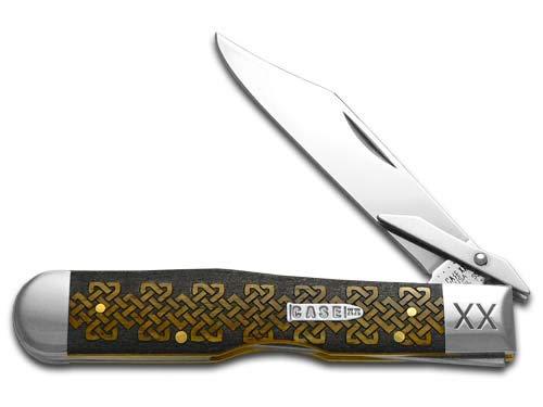 CASE XX Celtic Knot Antique Bone Cheetah 1/500 Stainless Pocket Knife Knives