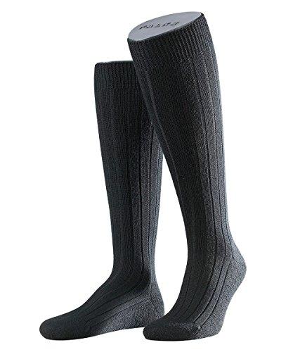 FALKE 3 Paar Teppich i.S. KH im Schuh Kniestrumpf 15410 Klassiker für kalte Tage, Farbe:Black, Socken und Strümpfe:45-46