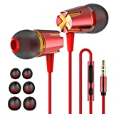 Earbuds, in-Ear Headphones Earphones with 3.5mm Jack Heavy bass Earphone Call with Mic Stereo Earbud...