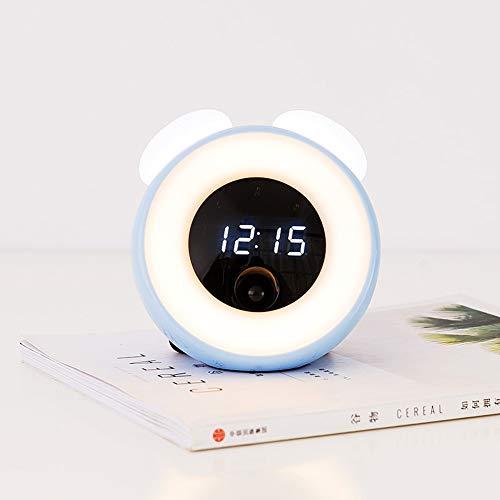 Dongbin Digital LED Despertador con Pantalla Grande dígitos, Alarma Audible, cabezada, fácil operación, Operaciones de Red dimmer Reloj de Mesa,Azul