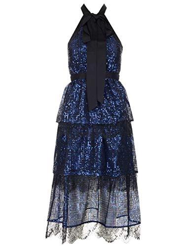 Luxury Fashion | Self-portrait Dames SP23084SBLUE Donkerblauw Synthetische Vezels Jurken | Herfst-winter 19