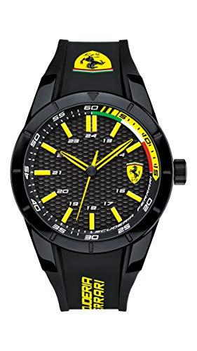 Ferrari 0830302 RedRev - Reloj analógico de pulsera para hombre (cuarzo, correa de silicona)
