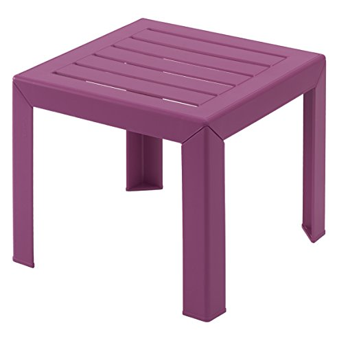 GROSFILLEX Miami Table, Fuchsia, 40 x 40 cm