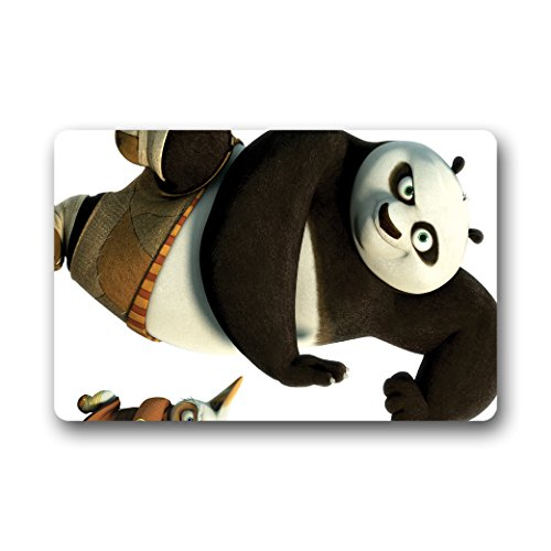 Doubee Animals générique Panda Paillasson Premium Tapis Anti-Poussière rectangulaire antidérapant Porte Tapis 60 cm x 40 cm, Tissu, E, 23.6\