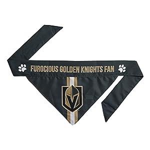 Littlearth NHL Vegas Golden Knights Pet Bandanna, XS, Team Color (520601-KNGT-XS) by Littlearth