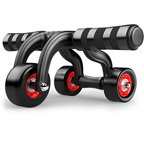 YDHWT AB Roller Wheel for Abdominal Exercise, Automatic 3 Wheel Foldable Abs Roller for Women Men, Abdominal Muscle Training Wheel