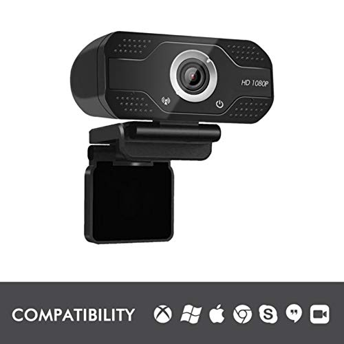 YP HD 1080P Webcam with Auto Focus, built im noise reducing mic Fold-and-Go Design, 360-Degree Swivel, USB Computer Laptop Camera plug and play