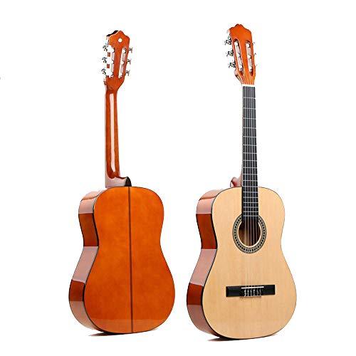North King Guitarra acústica de 46 pulgadas guitarra clásica de viaje guitarra de madera adulto instrumentos musicales