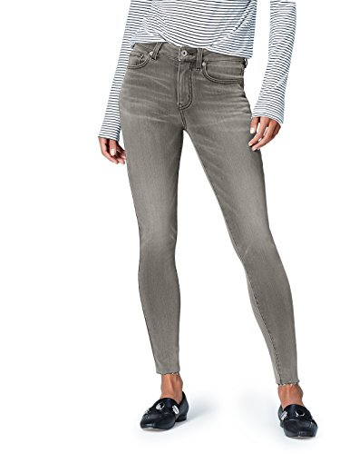 Amazon-Marke: find. Damen Skinny Jeans mit hohem Bund, Grau (Mid Grey), 34W / 32L, Label: 34W / 32L