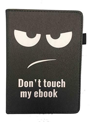 Theoutlettablet® Funda ebook Bq Cervantes 4 6' / Cervantes 3 6' - Protección para Libro electrónico - Color Negro Dont Touch my ebook