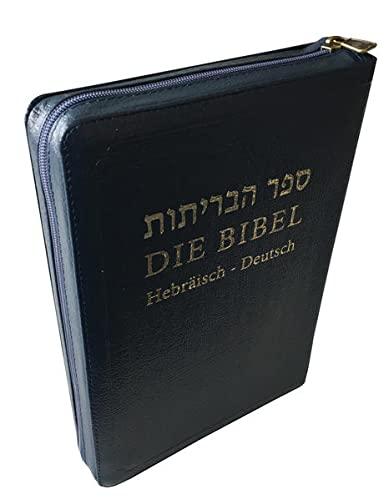 Die Bibel: Hebräisch-Deutsch mit Leder, Goldschnitt und Reißverschluss