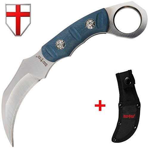 Grand Way Fixed Blade Karambit Knife with G-10 Handle - Claw Blade - Best Fix for Survival 01145