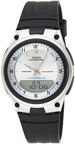 Casio Reloj Analógico-Digital para Hombre de Cuarzo con Correa en Resina AW-80-7AVES