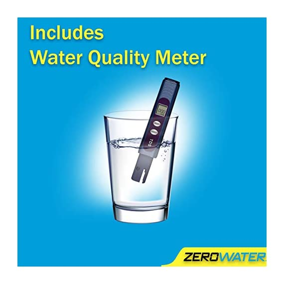 ZeroWater ZD-018 ZD018, 23 Cup Water Filter Pitcher with Water Quality Meter 2 Included Components: Zerowater Zd-018 23-Cup Water Dispenser And Filtration System;Electronic Tds Water Testing Meter;1- Zerowater Filter Cartridge That Removes Contaminants That Cause Water To Have An Unpleasant Taste