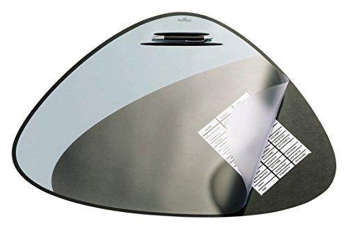Durable 720801 Schreibunterlage Vegas (dreieckige, mit Stiftablage, 69 x 51 cm) 1 Stück silber/schwarz