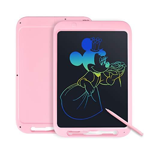Tyhbelle 12 Zoll LCD Schreibtafel, LCD Writing Tablet mit Anti-Clearance Funktion und Stift, Digital Ewriter Grafiktabletts Elektronisches Zeichenbrett papierlos für Schreiben (Grün) (Pink+Bunt)