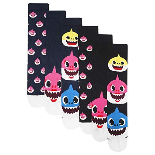 Herren/Jungen 6er-Pack Shark Family Socken Baumwolle Rich Designer Socken Gr. 37/39 EU, multi