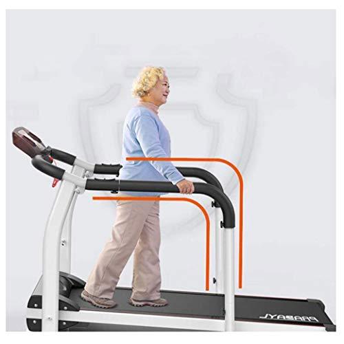 LAOHETLH Casa di Mezza età E Anziani Tapis Roulant Pieghevole Macchina for Camminare Esercizio Fitness Recupero Corpo Esercizio Indoor 2.0 HP Motore Display LCD E Cardiofrequenzimetro