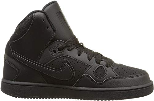 Nike Youths Son of Force Mid Black Leather Trainers 37.5 EU