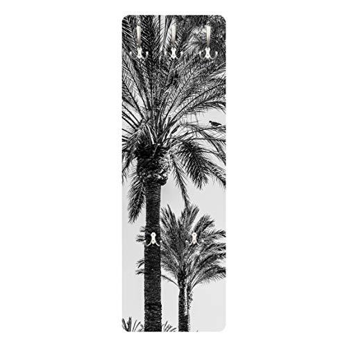 Bilderwelten Perchero - Palm Trees In The Sunset Black and White 139 x 46cm