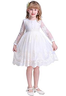 Bow Dream Flower Girl Dress Vintage Lace