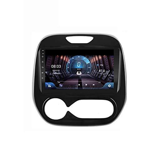 DSP 2 DIN Android 9.1 [Reproductor De Medios De Alta Resolución]: 9.0-Inch 2.5D HD Capacitivo Multi-Touch SC Radio Multimedia Video Player GPS Navi Para Renau(Size:Cuatro nucleos,Color: WIFI:1GB+16GB)