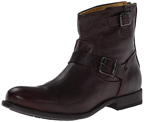 Frye Mens Tyler Engineer Brown Ankle Boots Size 9.5