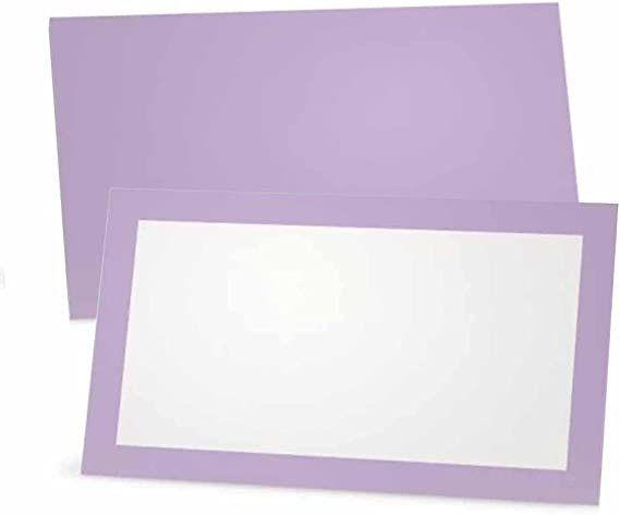 INSTANT DOWNLOAD Lavender Elegant Place Cards Damask Purple and Gray Florence Printable Food Tags or Placecards 3.5 x 2.25 Tent-Style