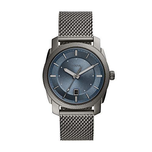 Relógio Analogico Fossil Masculino Caixa Aço Cinza; Pulseira Aço Cinza
