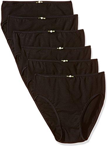 AVET 3267 Braguita algodon Pack x 6, Mujer, Negro, L