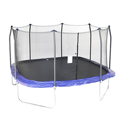 Skywalker Trampolines 14-Foot Square Trampoline with Enclosure – Added Safety Features – Meets or Exceeds ASTM – Made to Last – Extra Jumping Space